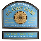 US Coast Guard Personalized Wood Signs