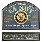 US Navy Personalized Wood Signs