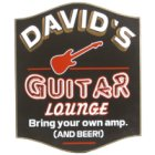 Guitar Lounge Custom Wood Sign
