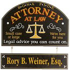 Personalized Bona Fide Attorney Sign