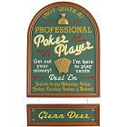 Professional Poker Player NOT Poker Sign with Nameboard