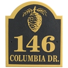 Personalized Pinecone Wood Address Plaque