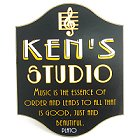 Personalized Music Studio Wood Sign