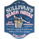 Personalized Beach House Wood Sign