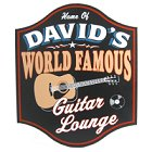 Guitar Lounge Personalized Wood Sign