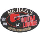 Acoustic Guitar Lounge Oval Wood Sign