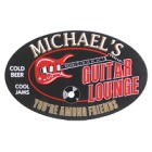 Guitar Lounge Oval Wood Sign