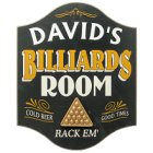 Personalized Billiards Room Pub Sign