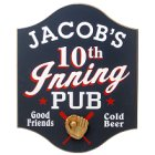 Personalized 10th Inning Baseball Pub Signs