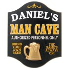 Man Cave Personalized Pub Signs