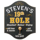 Personalized 19th Hole Golf Pub Signs