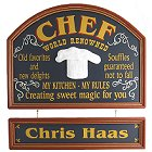 Personalized Chef Old Time Wood Signs