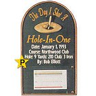 Hole in One Personalized Golf Plaque