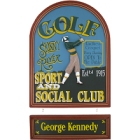Skinny River Club Personalized Golf Sign