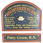 Registered Nurse Personalized Wood Sign