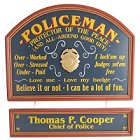 Policeman Personalized Wood Sign
