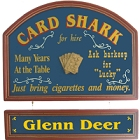 Card Shark Poker Sign with Nameboard