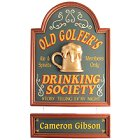 Old Golfer's Drinking Society Golf Sign