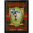 Personalized Gridiron Pub Wood Football Bar Signs