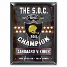 Personalized Fantasy Football Champion Plaques