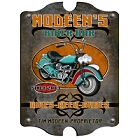 Vintage Personalized Biker Bar Wood Sign