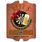 Vintage Dart Room Pub Wood Darts Sign