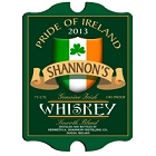 Vintage Personalized Irish Whiskey Pub Signs