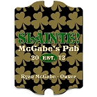 Vintage Personalized Field of Clover Irish Pub and Bar Signs