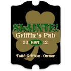 Vintage Personalized Gold Clover Bar and Irish Pub Signs