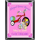 Personalized Wooden Blocks Nursery Room Sign - Girl