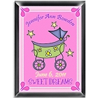 Personalized Baby Carriage Room Sign - Girl
