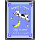 Personalized Cow Jumping Over the Moon Room Sign - Boy
