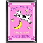 Personalized Cow Jumping Over the Moon Nursery Room Sign - Girl