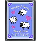 Personalized Counting Sheep Room Sign - Boy