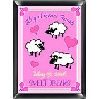 Personalized Counting Sheep Nursery Room Sign - Girl