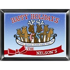 Personalized Reindeer Family Wood Christmas Signs
