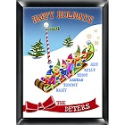 Personalized Elves Family Wood Christmas Signs