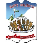 Vintage Personalized Reindeer Family Wood Christmas Signs