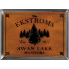 Personalized Spruce Wood Cabin Sign