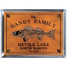 Personalized Walleye Wood Cabin Signs