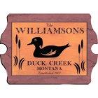 Vintage Duck Wood Cabin Sign