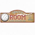Personalized Beach Volleyball Kid's Room Sign