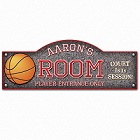 Personalized Basketball Hoops Kid's Room Sign