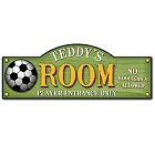 Personalized Kick It Up Soccer Kid's Room Sign