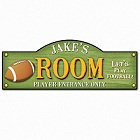 Personalized Football Touchdown Kid's Room Sign