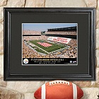 Personalized NFL Football Stadium Print with Wood Frame