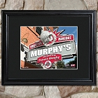 Personalized College Hangout Prints with Wood Frame