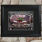 Personalized College Football Stadium Prints with Wood Frame