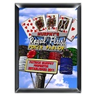 Personalized Marquee Royal Flush Poker Parlor Daytime Wood Sign