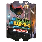 Vintage Personalized Marquee Bar-B-Q Sign